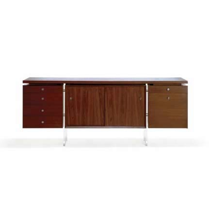 Suite of 'Floating' Desk and Cabinet
