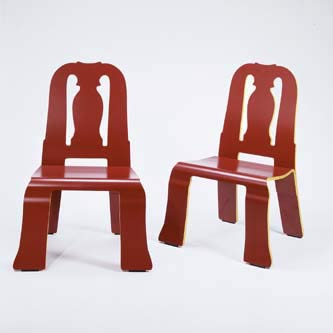 Pair of 'Queen Anne' chairs