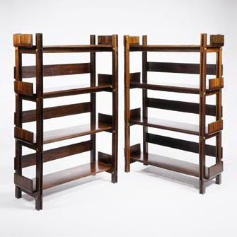 Pair of Shelving Units