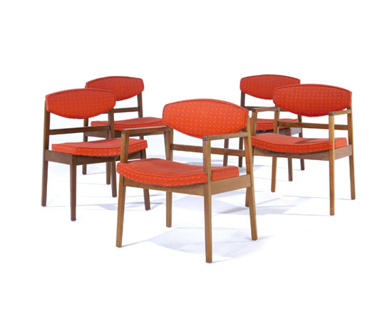 Chairs, set of six
