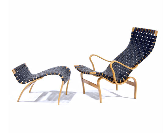 Lounge chair and ottoman by Rago Arts and Auction Center