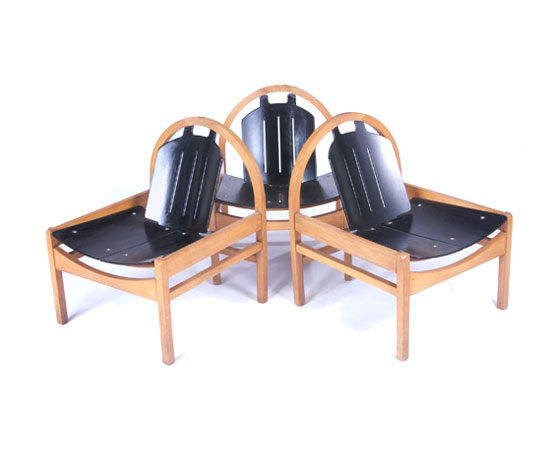 Chairs, set of three