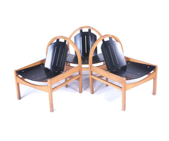 Chairs, set of three