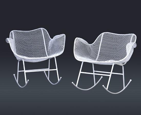 Rocking chairs, pair