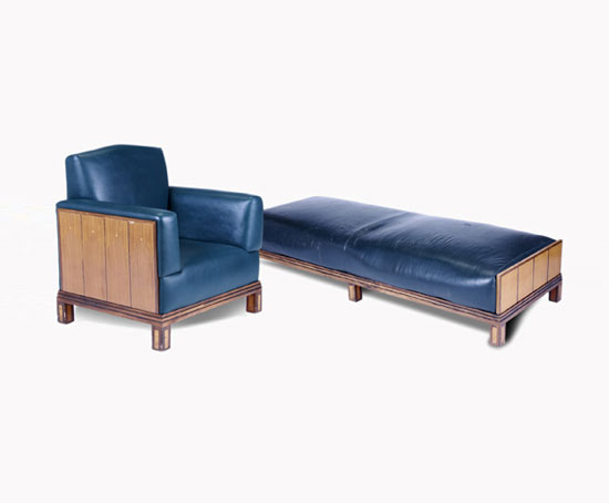 Armchair and daybed de Rago Arts and Auction Center