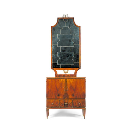 Paio di mobili con specchiera
