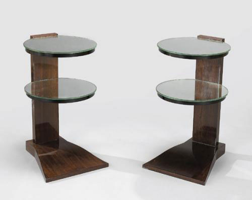 Pair of double plate tables
