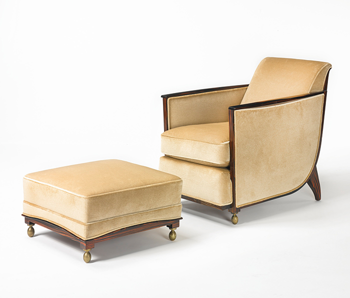 Cuellar armchair and ottoman, Model 101AR/221NR