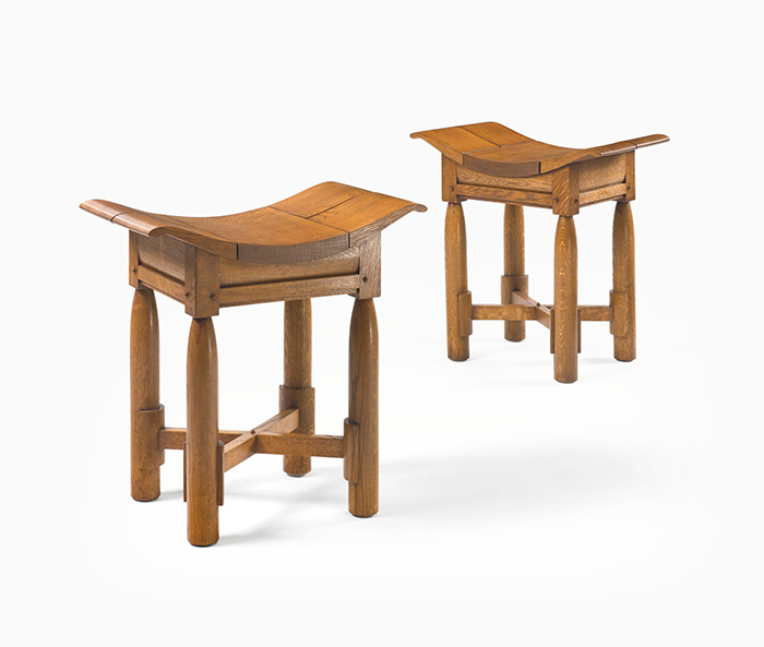 African stools, pair