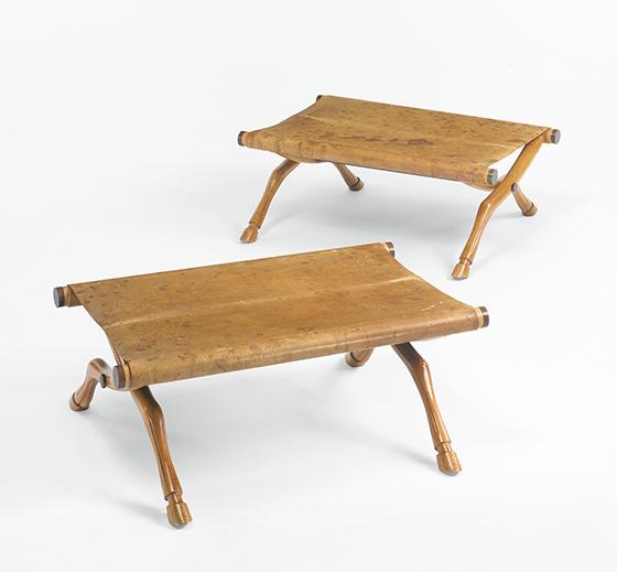 Sotheby´s-Diphros Okladias stools, pair