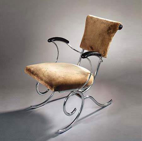 Tubular steel armchair