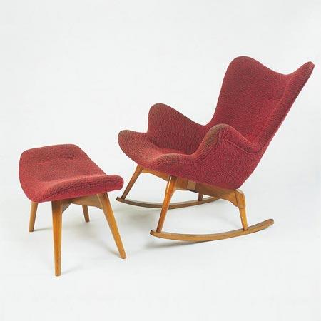 R160 rocking chair/ottoman