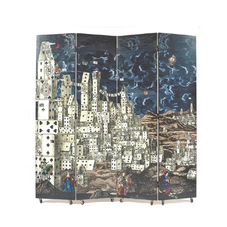 Sotheby´s-City of Cards four-panel screen