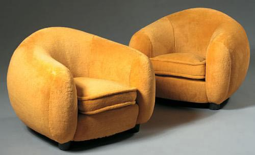 Upholstered bear chairs