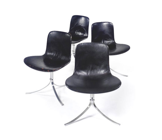 CHAIRS, MODEL NO. PK9, set of four