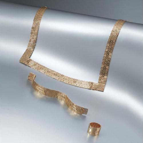 """""""MOSAICO"""" necklace, ring, bracelet"""