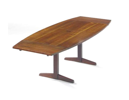 BOAT-SHAPED DINING TABLE