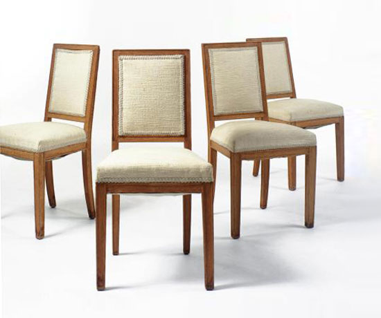 CHAIRS, SET OF FOUR