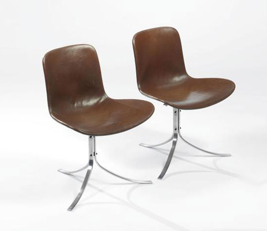 CHAIRS, MODEL PK9, PAIR