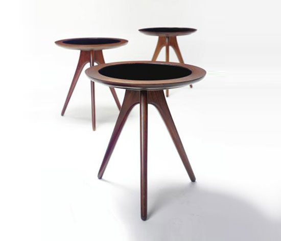 SIDE TABLES, set of three