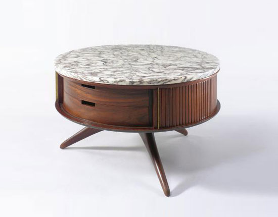 REVOLVING NIGHT TABLE, MOD. 3403