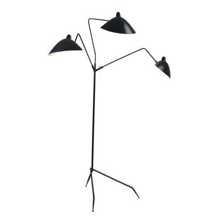 Three-branch floor lamp