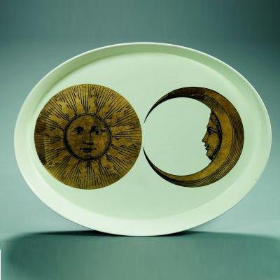 Plate, model Soleil et lune