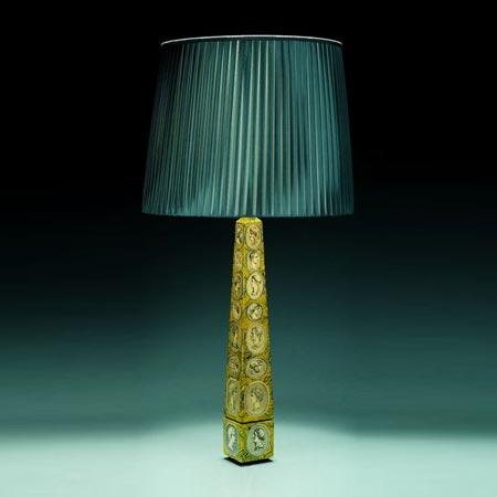 Lampe de table obélisque Camées romains
