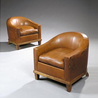 Pair of armchairs, model Martellet