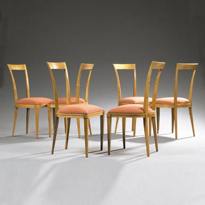 Suite of six chairs