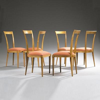 Suite de six chaises
