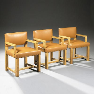 Suite of six armchairs