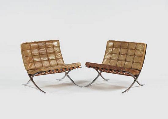 Paire de fauteuils barcelona chair objets de design - Fauteuil barcelona prix ...