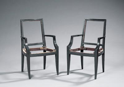 Pair of chair frames