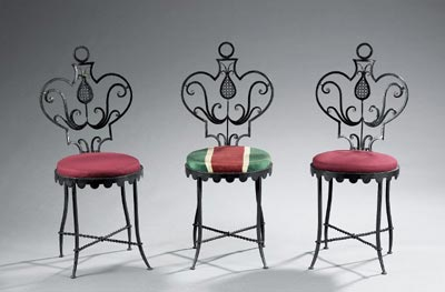 Suite of three chairs