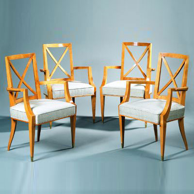 Suite of four chairs