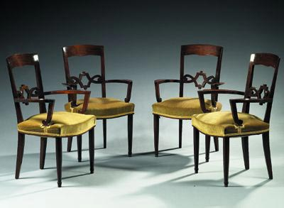 Suite de quatre fauteuils