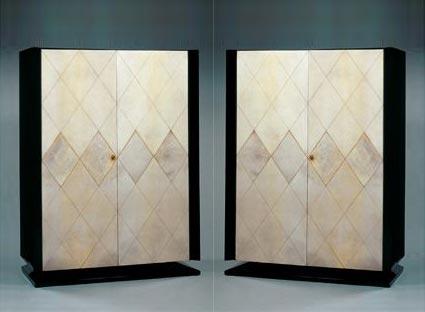 Tajan-Paire d'armoires