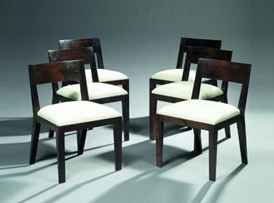 Suite de six chaises by Tajan