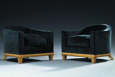 Paire de fauteuils by Tajan
