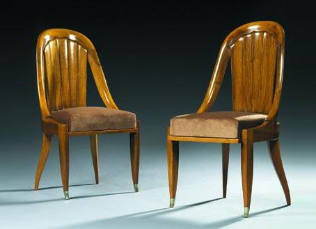 Paire de chaises 'Zucca' von Tajan