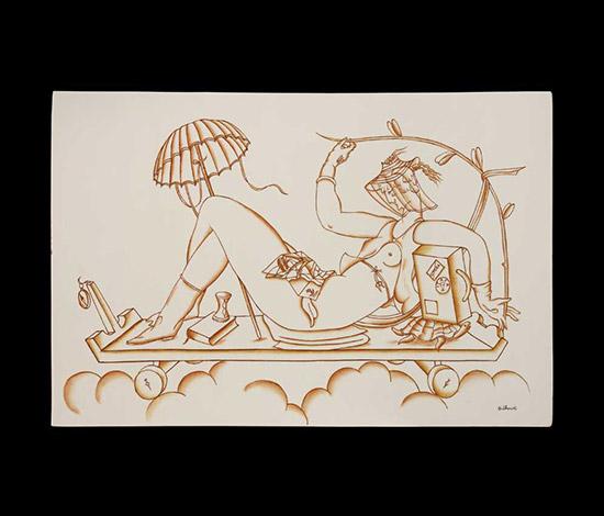 """""""Venere viaggiatrice"""" ceramic tile by Wannenes Art Auctions"""
