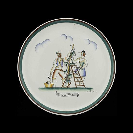 """""""Il raccolto"""" ceramic plate"""