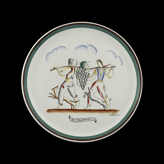 """Il trasporto"" ceramic plate by Wannenes Art Auctions"
