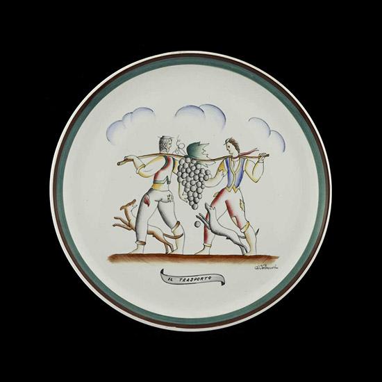 """""""Il trasporto"""" ceramic plate"""