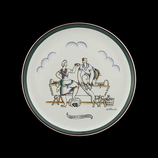 """""""La pigiatura"""" ceramic plate"""