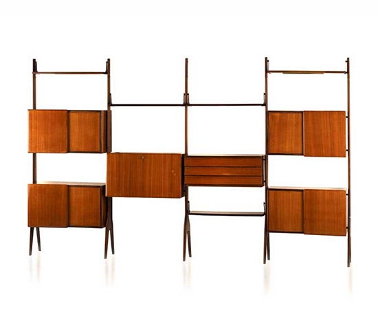 Italian rosewood office bookcase von Wannenes Art Auctions