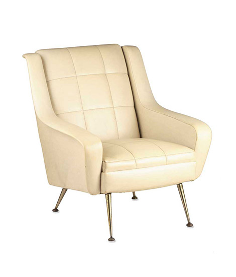 Pair of white Arflex armchairs