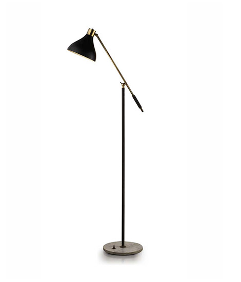 Wannenes Art Auctions-Metal and marble floor lamp