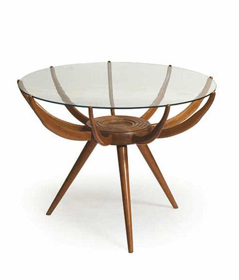 "Circular ""Ragno"" sofa table"